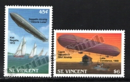 St Vincent 1992 Yvert 1583-84, Transport. Airships, Zeppelins - MNH - St.Vincent (1979-...)