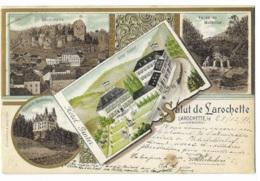 Salut De Larochette - Hôtel Ginter ( Cp: Année 1899 ) 2 SCANS - Larochette