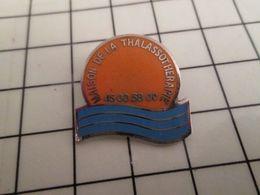 316a Pin's Pins / Rare & Belle Qualité !!! THEME MARQUES / SOLEIL MER MAISON DE LA THALASSODOMIE Par PROMOPLUS - Marques