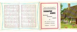 """Calendrier 1966 Signes Du Zodiaque, Distances Des Principales Villes Entre Elles """"Au Lilas Blanc"""" Bonneterie Chemiserie - Calendriers"""