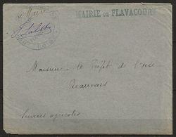 LAC, En Franchise De La Mairie De FLAVACOURT (Oise) Du 15 Nov 1917 Pour Le Préfet, TB - Postmark Collection (Covers)