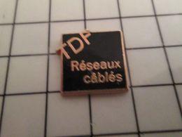 316a Pin's Pins / Rare & Belle Qualité !!! THEME MEDIAS / TDF RESEAUX CABLES TELE DIFFUSION DE FRANCE Par PRODERAM - Médias