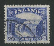 "ISLANDE ICELAND COTE 12 € N° 141 Oblitéré ""Chutes De GULLFOSS"" - Gebraucht"