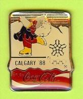 Pin's Coca-Cola JO Jeux Olympiques Calgary 1988 Patinage Artistique - 1K17 - Coca-Cola