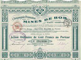 Cie Française Des Mines De Bor (Concession St-Georges) - Mines