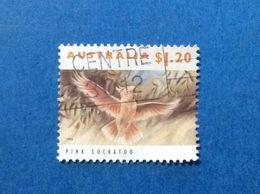 1993 AUSTRALIA FRANCOBOLLO USATO STAMP USED Fauna Animali Uccelli 1,20 $ PINK COCKATOO - 1990-99 Elizabeth II