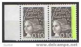 France Marianne Du 14 Juillet N° 3086.a Et 3086 **  Luquet Variété En Paire Du 0.10 Fr - Avec Et Sans Bande De Phosphore - 1997-04 Marianne Of July 14th