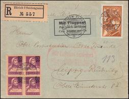 181 Auf Luftpost Befördert Flugpostamt München R-Brief Schweiz Zürich 12.10.23 - Unclassified