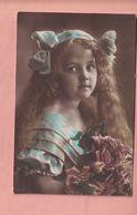 OLD PHOTO POSTCARD - CHILDREN - GIRL - GRETE REINWALD LONG HAIR - Portraits