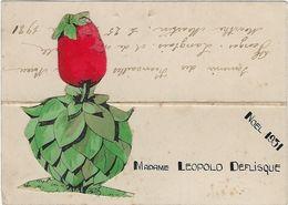 Image  Chromo  Fiancailles En Relief  Annee  Noel 1931 - Engagement