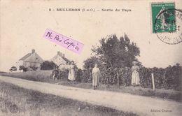 91- MULLERON- SORTIE Du PAYS - Ecrite-TIMBREE- 1914-- (29/6/20) - Altri Comuni