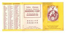 Calendrier 1966 Montre à Automates De Louis XVI Taillerie D'Auvergne Horlogerie - Bijouterie Coussedière-Fleury - Calendriers