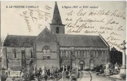 D14 - LE FRESNE CAMILLY - L'EGLISE (XIIe Et XIIIe Siècles) - Cimetière En 1er Plan - France