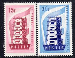 France 1956 Europa CEPT Set Of 2, Lightly Hinged Mint (A) - 1956