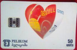 50 Units Georgian Post Bank  ( Geocell Heart) - Georgia