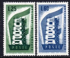 Italy 1956 Europa CEPT Set Of 2, Lightly Hinged Mint (A) - 1956