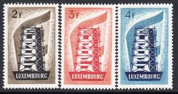 Luxembourg 1956 Europa CEPT Set Of 3, Lightly Hinged Mint (A) - 1956