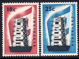 Netherlands 1956 Europa CEPT Set Of 2, Lightly Hinged Mint (A) - 1956