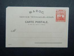 Entier Postal Poste Locale Maroc Yvert 154 Carte Postale 5 Centimos Tetouan El Ksar El Kebir - Marokko (1891-1956)