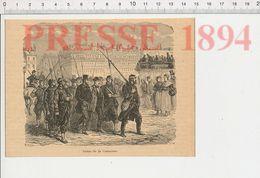 Gravure Presse 1894 Format 15 X 10,5 Cm Scène De La Commune (Paris Communards) Omnibus Histoire De France CHV36 - Vieux Papiers