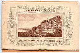 Lausanne Switzerland 1907 Postcard Album 5pc - VD Vaud