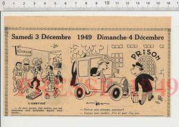 2 Scans 1949 Humour Métier Chauffeur De Taxi Voiture Photographe Petit Oiseau Photo Revue Troupes Caserne Parapluie229ZL - Vieux Papiers