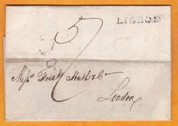 1826 - Entire Letter In English From Lisboa Lisbon To London, England - Reign Of John The Clement - Portugal