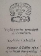 PAPIER TIMBRE - JUILLET 1673 - GENERALITE TOULOUSE - RARE NON Répertorié Serai  N°10-2 !!! RRR+++ - Cachets Généralité