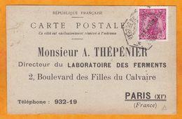 1912 - Carte Postale Repiquée Publicitaire De Porto Vers Paris, France - Ferments Lactiques Bulgarine - Lettres & Documents