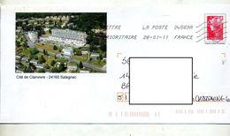 Pap Beaujard Flamme Chiffrée Illustré Salagnac Cité - Prêts-à-poster:Overprinting/Beaujard