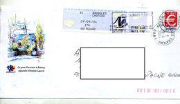 Pap Euro Flamme  Bagnoles Therme + Vignette Illustré Brunoy Pont - Prêts-à-poster:  Autres (1995-...)