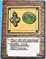 Joli Lot Du XVII Siècle. Applique Et Bouton. - Arqueología