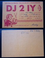 Yugoslavia 1957 Radio Card Munich Germany Dj2iy  C37 - Yougoslavie
