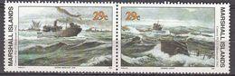 Marshall Islands 1992 WO II Convoy PQ-17 Destroyed 1942  Michel 432-33  MNH 28043 - Marshall