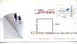 Pap Embleme Poste Flamme Chiffrée Illustré Facteur - Prêts-à-poster:  Autres (1995-...)
