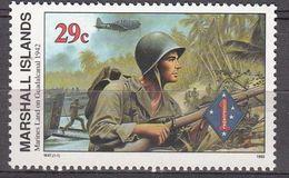 Marshall Islands 1992 WO II Marines Land On Guadalcanal 1942  Michel 434  MNH 28044 - Marshall