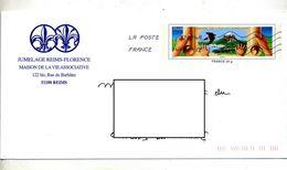 Pap Environnement Flamme Chiffrée Illustré Jumelage Reims Florence - Prêts-à-poster:  Autres (1995-...)