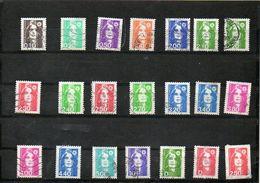 FRANCE    21 Timbres En F 1989 à 1997   Marianne Du Bicentenaire    Oblitérés - 1989-96 Bicentenial Marianne