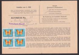 Butterfly Schmetterling Postillon 25 Pfg., Ausweis Zum Bezug Von Sonder-PWZ, DDR 1007(4), Gefaltet Schönebeck 17.1.64 - Covers