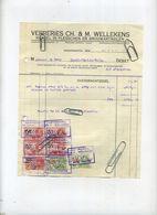 Hoogstraten : Verreries Wellekens - Handel In Flessen En Brouwartikelen ( Brasserie - Brouwerij )  1939 - Belgium