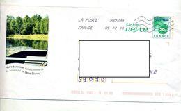 Pap Carte Verte Flamme Chiffrée Illustré Buraliste Deux Sevres - Prêts-à-poster:  Autres (1995-...)