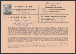 Ausweis Zum Bezug Von Sonder-PWZ, Dresden N52 21.8.63, 1 DM Walter Ulbrich DDR 968, - Cartas
