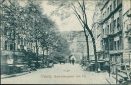 AK Danzig / Gdansk Brotbänkengasse Und Tor (40151) - Danzig