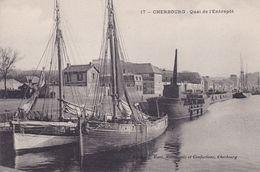 50-CHERBOURG- QUAI DE L'ENTREPOT-VOILIERS-ANIMEE - Cherbourg