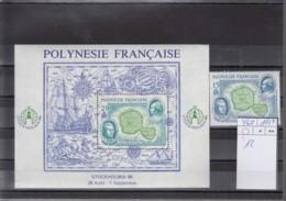Französisch Polynesien Michel Cat.No. Mnh/** 460 + Sheet 12 - Polynésie Française