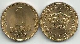 Yugoslavia 1 Dinar 1938. High Grade KM#19 - Joegoslavië