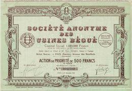 Société Anonyme Des Usines Bégué - Industrie
