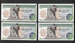 Egypte Egypt 4x25 Piastres  UNC - Egypte