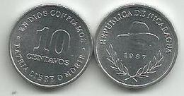 Nicaragua 10 Centavos 1987. KM#56 High Grade - Nicaragua