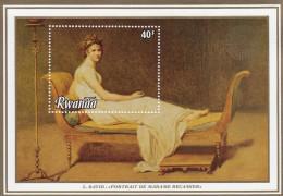RWANDA Madame Recamier By DAVID,unused,art - 1980-89: Neufs